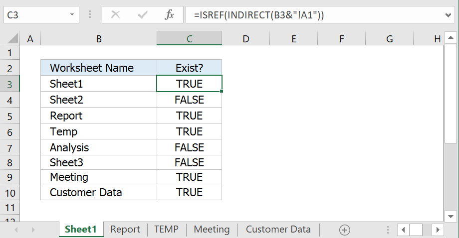 Check whether a sheet exists within the current workbook excel formula image checkwhetherasheetexistswithintheormulag ibookread ePUb