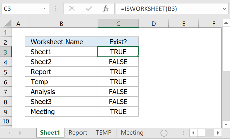 Check whether a sheet exists within the current workbook - User ...